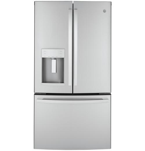 GE® ENERGY STAR® 22.1 Cu. Ft. Counter-Depth Fingerprint Resistant French-Door Refrigerator GYE22GYNFS