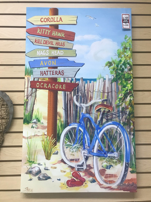 OBX Signs with Bike