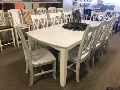 Hampton Chalk/White Dining Set