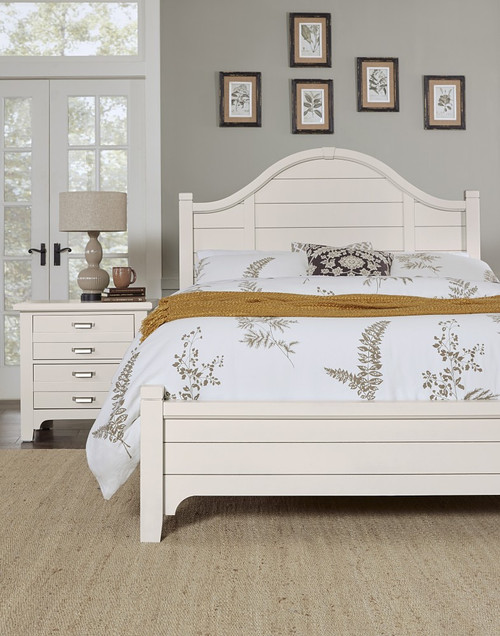 744 Bungalow Lattice White Arch Bed
