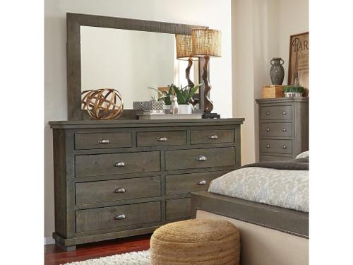P600 Willow - Distressed Dark Gray Dresser