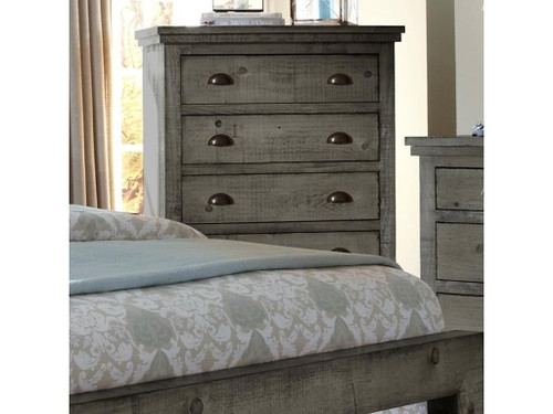 P600 Willow - Distressed Dark Gray Chest