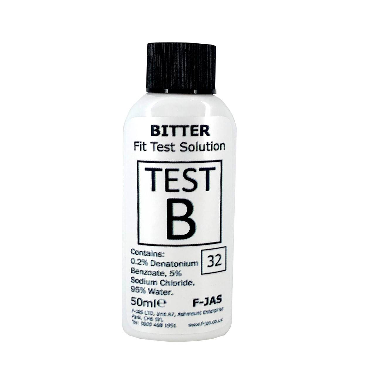 Bitter Fit Test Solution for PPE Fitment 50ml