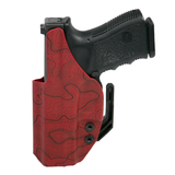 Inside-the-Waistband Holster Front Image - Red Topography