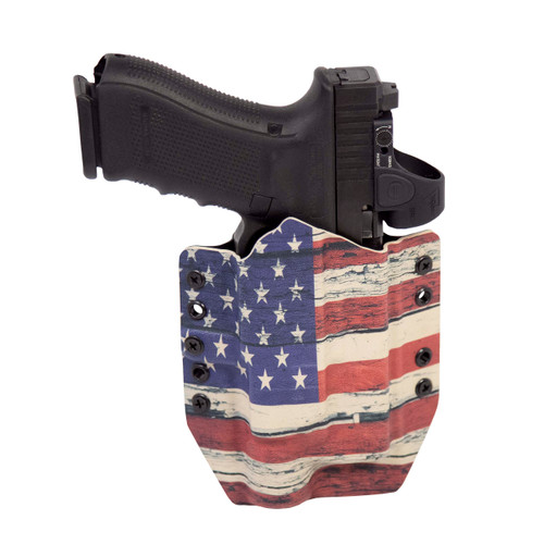 Outside-the-Waistband Holster Front Image - American Flag