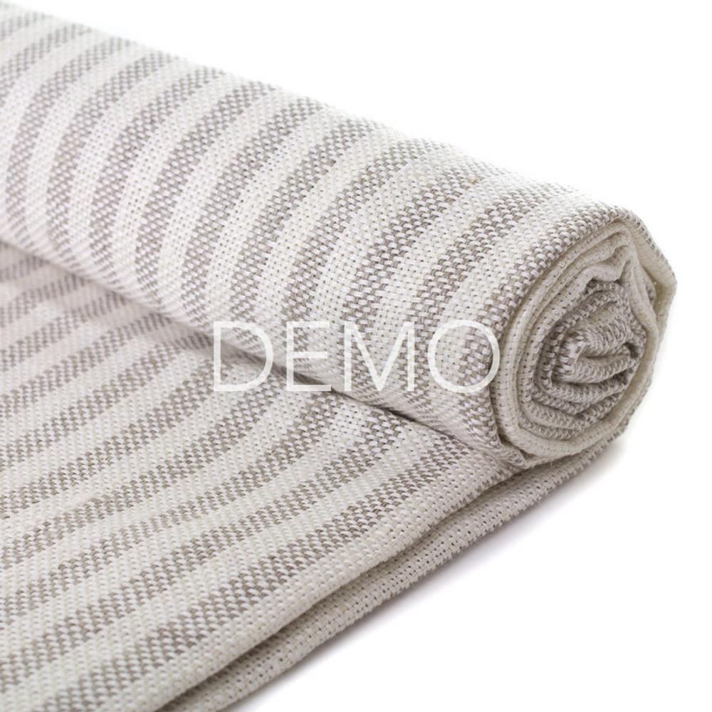 [Sample] Fog Linen Chambray Towel - Beige Stripe
