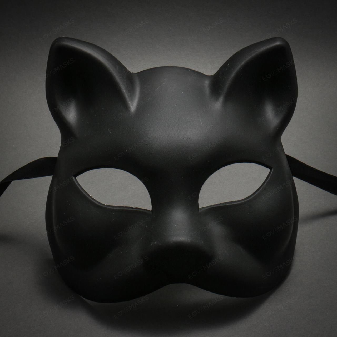 Silver Steampunk Full Face Kitty Halloween Mask Kitty Victorian Mask Ladies/' Kitty Mask