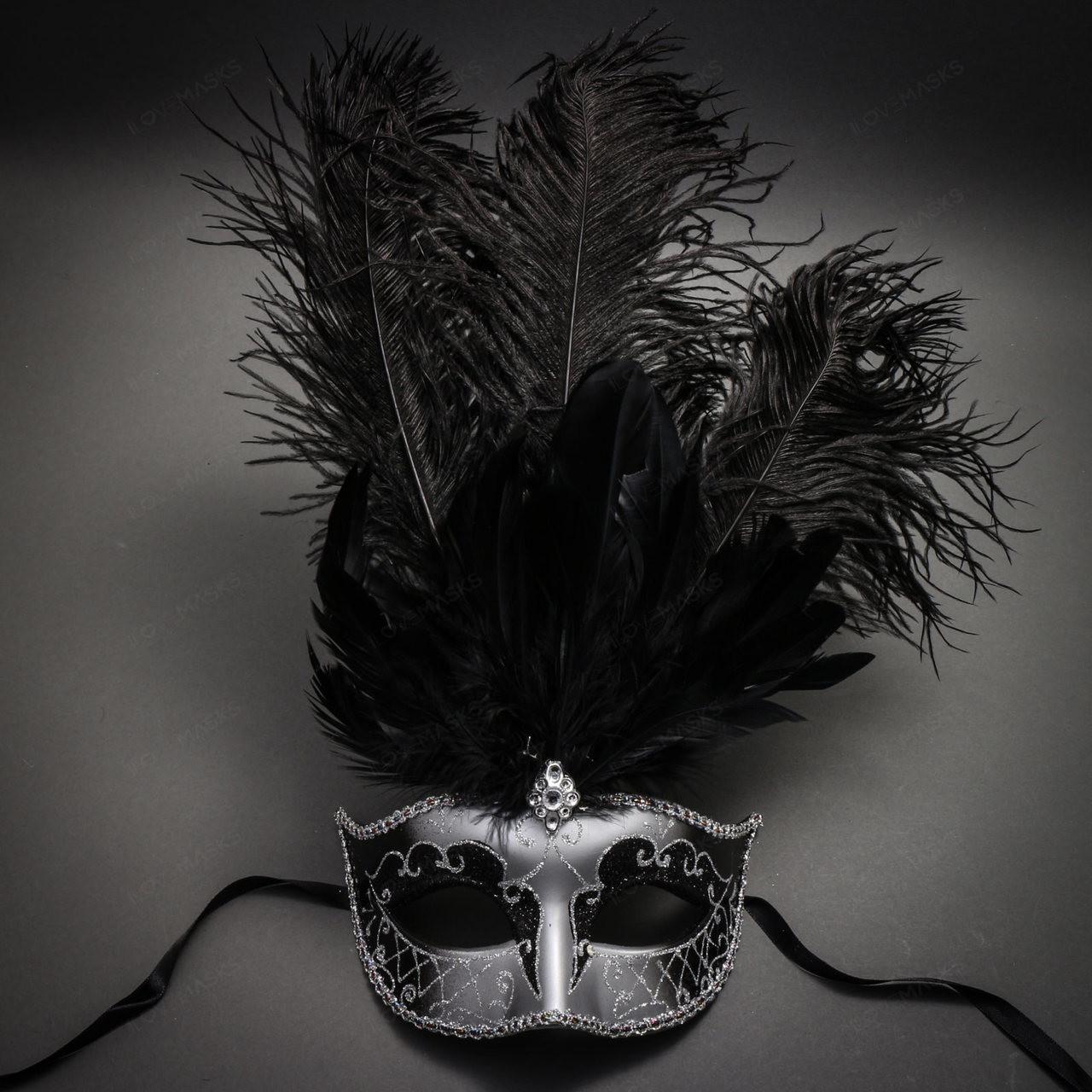 Purple Silver Masquerade Mask Wedding Masquerade Mask Party Event Mask Feather Masquerade Mask Mask for Women Luxury Women Mask
