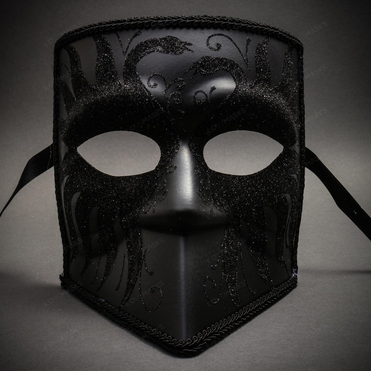 Black Gold Adult Venetian Masquerade Half Face Men Halloween Costume Party Mask