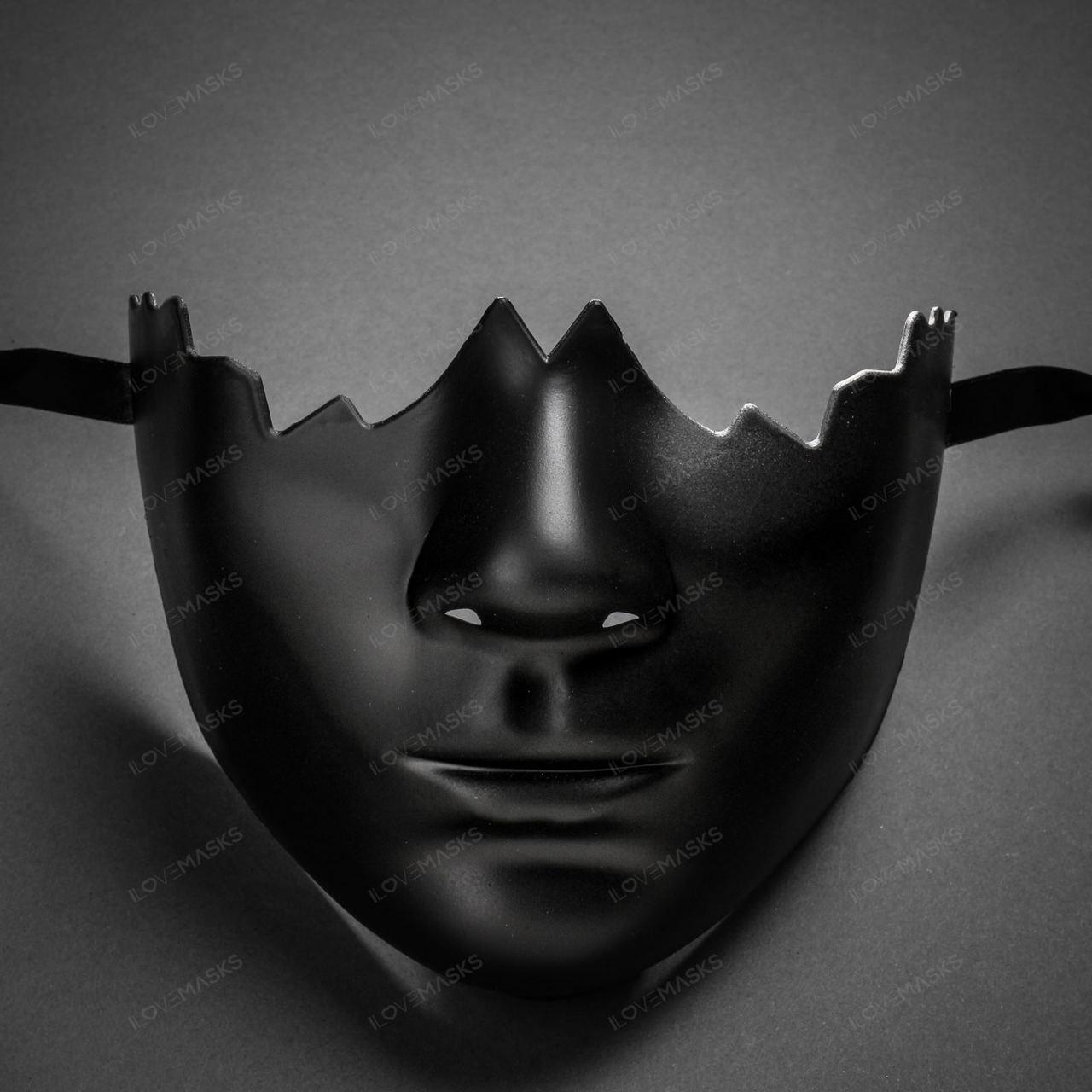 Black Masquerade Half Mask