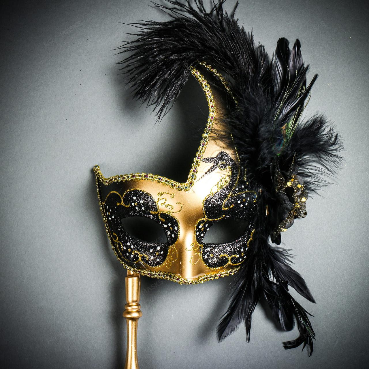 Paper Mache Made of Resin Venetian Gold Laser Cut Venetian Masquerade Mask
