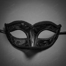 Glitter Venetian Masquerade Mask-Black