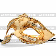 Phantom Musical Venetian Masquerade Mask-Gold - 4