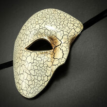 Phantom Venetian Masquerade Mask-White