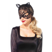 Lace cat mask - Black - Image 1