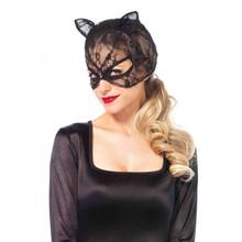 Lace cat mask - Black - Image 1