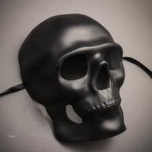 Skull Halloween Masquerade Full Face Mask - Black