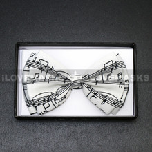 Bow Tie - Black Music Note / White