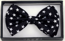 Bow Tie - White Star / Black