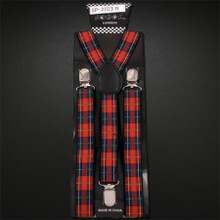Suspenders - Red Plaid