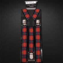 Suspenders - Red Plaid