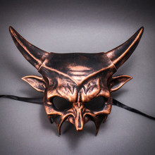 Demon Masquerade Devil Metallic Mask - Black Copper