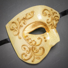 Phantom of Opera Design Venetian Masquerade Party Mask - Gold