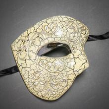 Phantom of Opera Design Venetian Masquerade Party Mask - Silver Black