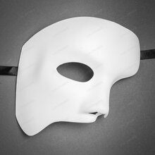 Classic Phantom of the Opera Half Face Mask - White
