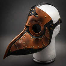 Steampunk Plague Doctor Mask Masquerade Leather Long Nose Bird Cosplay Halloween Party
