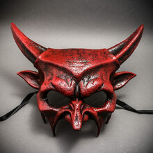 Demon Masquerade Devil Halloween Party Mask - Bloody Red