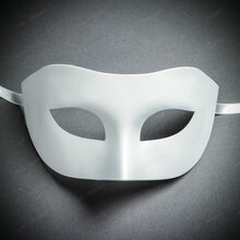 Venetian Half Face Eye Mask Masquerade - White