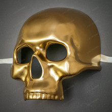Halloween Skull Skeleton Adult Costume Masquerade Face Mask - Gold