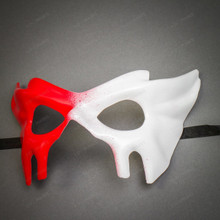 Devil Halloween Masquerade Eye Mask - Bloody Red White