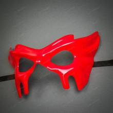 Devil Halloween Masquerade Eye Mask - Bloody Red