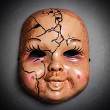 Halloween Scary Horns Devil Full Face Costume Mask - Evil Baby