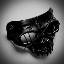 Grim Reaper The Death Masquerade Half Face Mask - Black