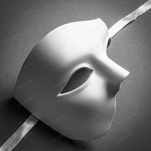 Classic Venetian Phantom of the Opera Half Face Mask - White