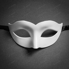 Classic Venetian Colombina Masquerade Eye Mask - White