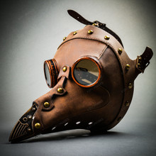 Steampunk Full Face Plague Doctor Mask - Brown (USM-M37033-BR)