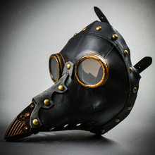 Steampunk Full Face Plague Doctor Mask - Black (USM-M37033-BK)