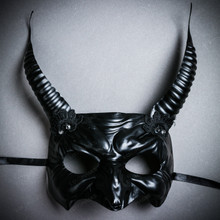 Goblin Devil Long Horn Eyes Mask - Black