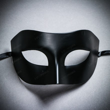 Venetian Half Face Eye Mask Masquerade - Black