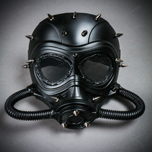 Submarine Full Face Steampunk Gas Mask - Black