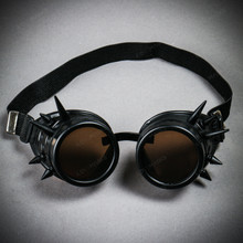 Steampunk Goggles with Spike - Black