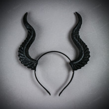 Fairy Horns Magnificent Headband - Black