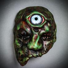 Brutish Phantom One-Eyed Monster Cyclops Mask - Dark Green