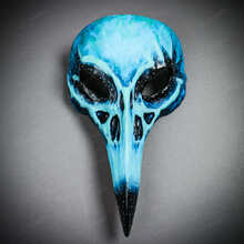 Raven Skull Bird Nose Alien Masquerade Mask Blue