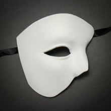 Half Face Phantom of The Opera Masquerade - White