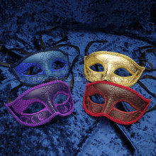 Classic Glitter Venetian Masquerade Mask Set of 4 - 2